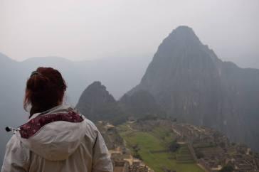 Io davanti alle rovine di Machu Picchu